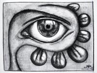 ojo-(16x12cm--Kohle-auf-Papier)